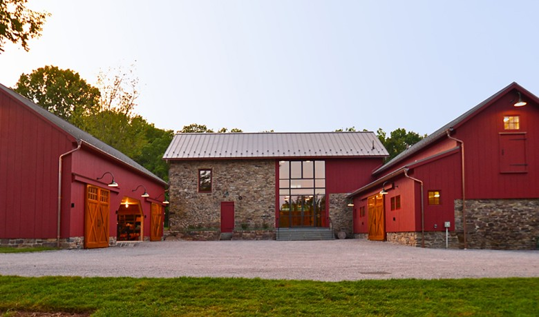 Pickell Architecture, barn and pool complex, Hunterdon County